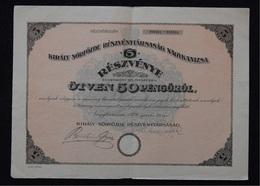 Vintage SHARE ACTION DIONICA - Hungary, Nagykanizsa - Sor, Brewery, Sörfőzde, Brauerei, Year 1926 - Other