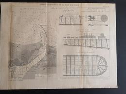 ANNALES DES PONTS Et CHAUSSEES (Allemagne) - Ports Allemands De La Mer Baltique - Gravé Par Macquet 1891 (CLF85) - Travaux Publics