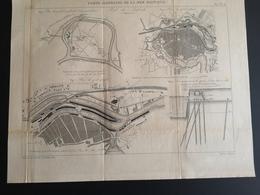 ANNALES DES PONTS Et CHAUSSEES (Allemagne) - Ports Allemands De La Mer Baltique - Gravé Par Macquet 1891 (CLF86) - Travaux Publics