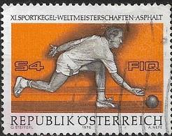 AUSTRIA 1976 11th World Skittles Championships, Vienna - 4s Bowler Delivering Ball FU - 1945-.... 2ème République