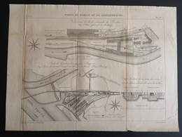 ANNALES DES PONTS Et CHAUSSEES (Allemagne) - Ports De Berlin Et De Gustavsbrourg - Gravé Par Macquet 1891 (CLF88) - Obras Públicas