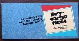 DRY-CARGO FLEET OF BLACK SEA SHIPPING COMPANY. USSR 1980's Bonus Album With 12 Postcards - Cargos