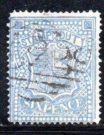 APR541 - NORTH BORNEO 1880 , Fiscali Postali Yvert N. 3  Usato  (2380A). - 1850-1912 Victoria