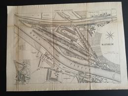 ANNALES DES PONTS Et CHAUSSEES (Allemagne) - Ports De Mannheim - Gravé Par Macquet 1891 (CLF89) - Public Works
