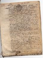 Véritable Parchemin Manuscrit Acte Notarié Notaire 1786 Rente Pavard Brunet Toury Cachet Généralité D'Orléans 4 Pages - Manuscrits