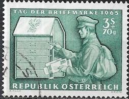 AUSTRIA 1965 Stamp Day - 3s.+70g Postman Delivering Mail FU - 1945-.... 2ème République