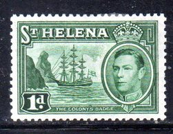 APR542 - ST. HELENA 1938 ,  Yvert N. 97  *  Linguellato  (2380A). - Isola Di Sant'Elena
