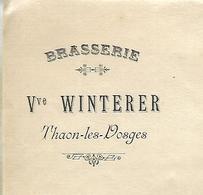 Lettre 1900 / 88 THAON LES VOSGES / Brasserie Vve WINTERER - France
