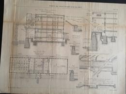 ANNALES DES PONTS Et CHAUSSEES (Allemagne) - Ports De Francfort-sur-le-mein - Gravé Par Macquet 1891 (CLF90) - Obras Públicas