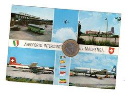 S6533 MILANO AEROPORTO INTERCONTINENTALE MALPENSA VEDUTE AEREO KLM GLOBE AIR BUS - 1946-....: Ere Moderne