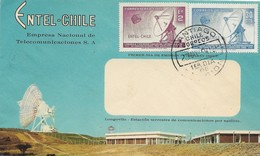 CHILE 1968 ENTEL COMMUNICATION COMPANY SATELLITES STATION FIRST DAY COVER - Chile