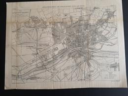 ANNALES DES PONTS Et CHAUSSEES (Allemagne) - Assainissement De Francfort-sur-le-mein - Gravé Par Macquet 1891 (CLF91) - Obras Públicas