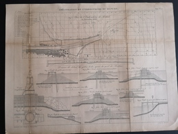 ANNALES DES PONTS Et CHAUSSEES (Allemagne) - Amélioration De L'embouchure Du Danube - Gravé Par Macquet 1893 (CLF92) - Public Works