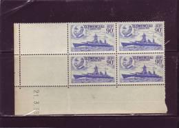 N° 425 - 90c CLEMENCEAU - Tirage Du 15.3.39 Au 24.3.39 - 21.03.1939 - - Esquina Con Fecha