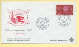 FDC N° 1267 – EUROPA – Foire Européenne 1961 - 67 Strasbourg 31/08/1961 - 1960-1969