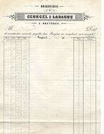 Facture 1864 / Brasserie De BRUYERES 88 / GEORGEL Place Neuve - 1800 – 1899