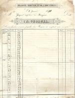 Facture 1850 / Brasserie De BRUYERES 88 / GEORGEL Place Neuve - France