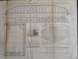 ANNALES DES PONTS Et CHAUSSEES (Allemagne) - Construction De Ponts Métalliques à Poutres - Graveur Macquet 1887 (CLF95) - Travaux Publics