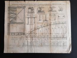 ANNALES DES PONTS Et CHAUSSEES (Allemagne) - Construction De Ponts Métalliques à Poutres - Graveur Macquet 1887 (CLF97) - Obras Públicas