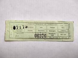 Tram Bus ? Ticket Billet Gand Gent NMBS Merelbeke Flora Ledeberg Zuid - Tramways