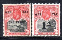 APR548 - ST. HELENA 1916 ,  Yvert N. 53/54  Linguellati  *  (2380A).  War Tax - Isola Di Sant'Elena