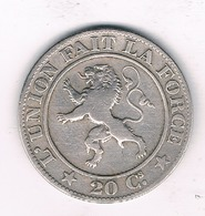 20 CENTIMES 1861   BELGIE/3467/ - 1831-1865: Léopold I