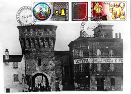 ITALIA - 1984 Ann. Ordinario S.LAZZARO PARMENSE (PR) - A Dittico Lavoro Italiano Vetro Su Cartolina Vetreria - Fabbriche E Imprese