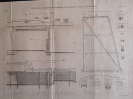 ANNALES DES PONTS Et CHAUSSEES - Ouvrages Mobiles Des Barrages De La Haute Seine Déversoirs - 1883 E. Pérot (CLF98) - Obras Públicas