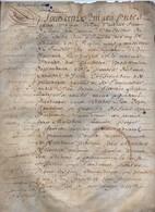 Véritable Parchemin Manuscrit Acte Notarié Notaire 1613 Léa Doyen Javoy Bordea Orléans 8 Pages - Manuscrits
