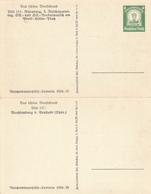 DR - 1934 , WHW  , Bild 154: Nürnberg Und Bild 164: Wachsnburg - Deutschland