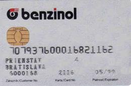 Transport Chip + Magnetic Card Benzinol, Pump - Tank Card Benzinol Slovakia - Moteurs