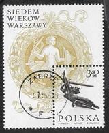 POLONIA - 700° ANNIVERSARIO DI VARSAVIA 1965 -  FOGLIETTO USATO (YVERT BF 42 - MICHEL BL 37) - Blocchi E Foglietti