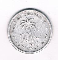 50 CENTIMES 1955 BELGISCH CONGO /3477/ - Belgisch-Kongo & Ruanda-Urundi