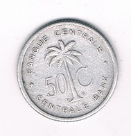 50 CENTIMES 1955 BELGISCH CONGO /3477/ - Congo (Belge) & Ruanda-Urundi