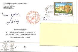 ITALIA - 1999 SALSOMAGGIORE TERME (PR) 4° Convegno Calzolai Timbro Comitato CALZOLAI Parmense Su Cart. Spec. - Profesiones