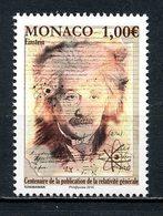 MONACO 2015 N° 3004 ** Neuf MNH Superbe Albert Einstein Travaux Relativité Générale Calligraphie Portrait - Monaco