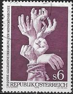 AUSTRIA 1978 30th Anniv Of Declaration Of Human Rights - 6s  Bound Hands FU - 1945-.... 2ème République