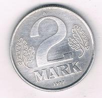 2 MARK 1977 A  DDR /  DUITSLAND /3480/ - [ 6] 1949-1990 : RDA - Rép. Démo. Allemande