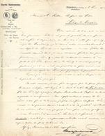 Lettre 1882 / Allemagne ROTTENBOURG / C. SAUTERMEISTER / Houblons Bavière Bohème Pois De Saxe Tyrol / PARIS Rue Paradis - Allemagne