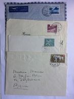 SWITZERLAND 1950`s X 4 Covers Various Postmarks - Switzerland