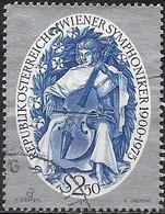 AUSTRIA 1975 75th Anniv Of Vienna Symphony Orchestra - 2s50 The Cellist FU - 1945-.... 2ème République