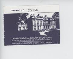 Ticket - Hotel Salomon De Rothschild - Centre National De La Photographie - Tickets - Vouchers
