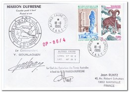 Frans Antarctica 1986, Animals, Letter To Marseille - Cartas