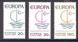 Cyprus 1966 Europa CEPT, MNH, Scott Cat. No(s).  275-277 - Unused Stamps