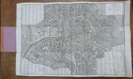 PLAN ROUTIER DE LA VILLE ET FAULXBOURGS DE PARIS DIVISE EN DOUZE MAIRIE, 1811 - Cartes Topographiques