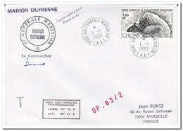 Frans Antarctica 1983, Birds, Letter To Marseille - Franse Zuidelijke En Antarctische Gebieden (TAAF)