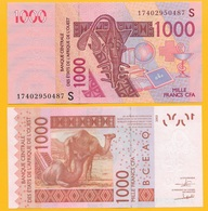West African States 1000 Francs Guinea-Bissau (S) P-915S 2017 UNC Banknote - West African States
