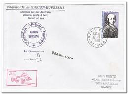 Frans Antarctica 1980, Admiral D'Entrecasteaux, Letter To Marseille - Franse Zuidelijke En Antarctische Gebieden (TAAF)