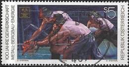 AUSTRIA 1990 Centenary Of Metal, Mining And Energy Trade Union - 5s Metal Workers FU - 1945-.... 2ème République