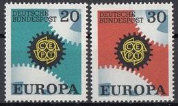 Germania 1967 Sc. 969-970 Europa CEPT Full Set MNH Germany - 1967